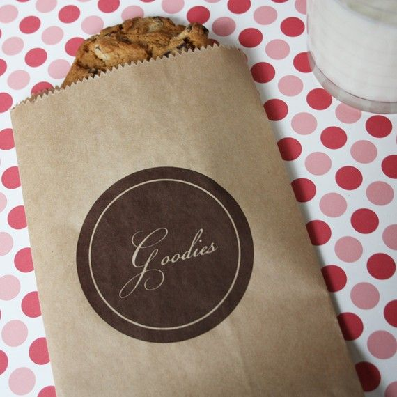 """Printable bag design. This one is really pretty. Something like this for our cookie bags? Should they say """"thank you"""" on them?"""