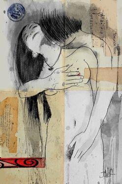 "Always causes me to pause. Saatchi Online Artist Loui Jover; Drawing, ""drink me"" #art"
