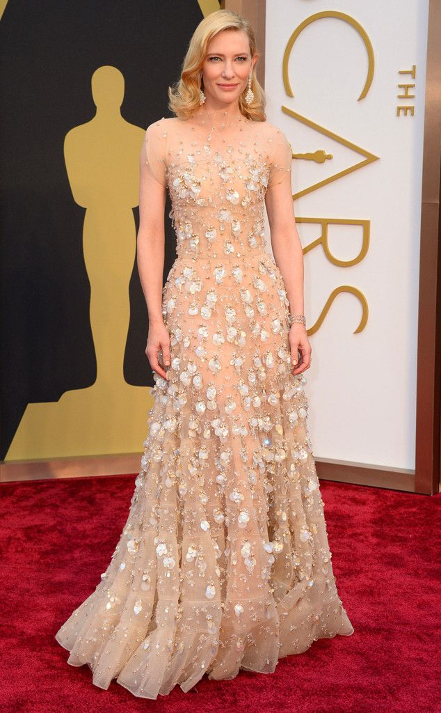 Cate Blanchett in Giorgio Armani from 2014 Oscars Red Carpet Arrivals | E! Online