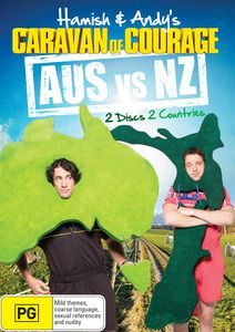 Hamish and Andy - Aus Vs NZ DVD. Hamish and Andy rev up the old caravan and trek 10,000km across Australia and New Zealand, leaving no stone unturned and no challenge unattempted in an effort to settle the burning question of trans-Tasman rivalry once and for all. $29.99