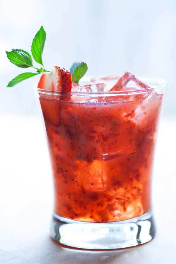 Swap this strawberry daiquiri…  Between the triple sec, sugar syrup and the fresh strawberries, this alcoholic (albeit, tasty) slushie can quickly become heavy on the cals.   Calories: 190
