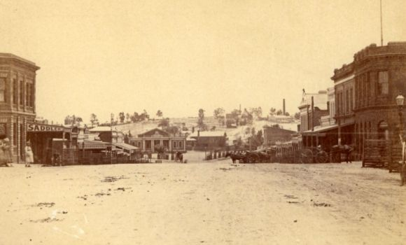 High Street, Eaglehawk - Victoria, Australia. Year : 1875 Image courtesy of Museum Victoria