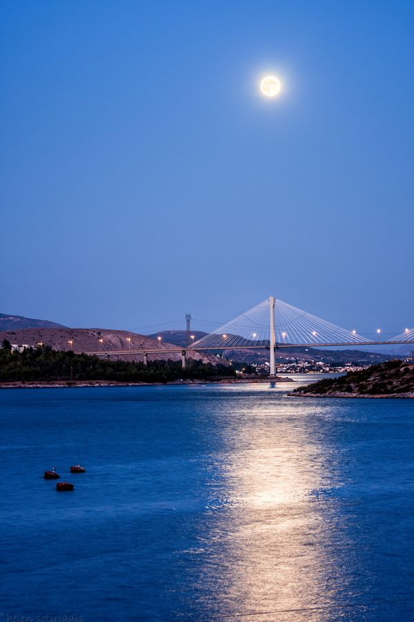 This is my Greece | The Chalchida's bridge connecting the island of Euboea with the main land of Greece.