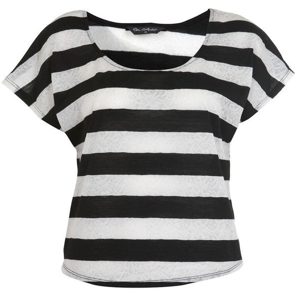 Jacquard Stripe Crop Tee ($12) ❤ liked on Polyvore featuring tops, t-shirts, shirts, blusas, women, crop top, striped crop tee, striped shirt, t shirt and crop tee