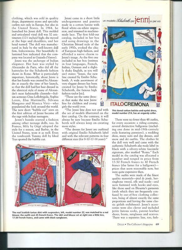 magazine Dolls de Février 1995 un article sur cette poupée et sa garde-robe. Pag. 2