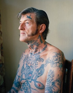 old people with tattoos. and who says youll look ugly with tattoos when your 60 ??