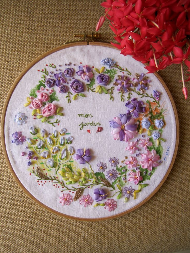how to ribbon embroidery - Buscar con Google
