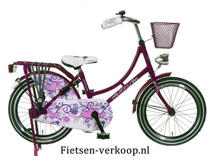 Omafiets Paars 18 Inch | bestel gemakkelijk online op Fietsen-verkoop.nl