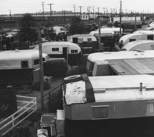 Ansel Adams 1939 Trailer Park Photos Mobile Home LivingRv