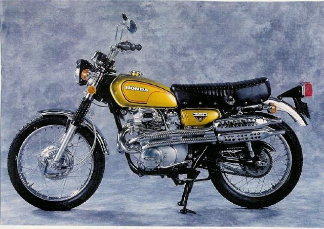 First motorcycle i rode more than 50 feet for B and e honda