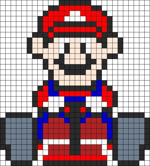 Mario Mario Kart Perler Perler Bead Pattern | Bead Sprites | Characters Fuse Bead Patterns