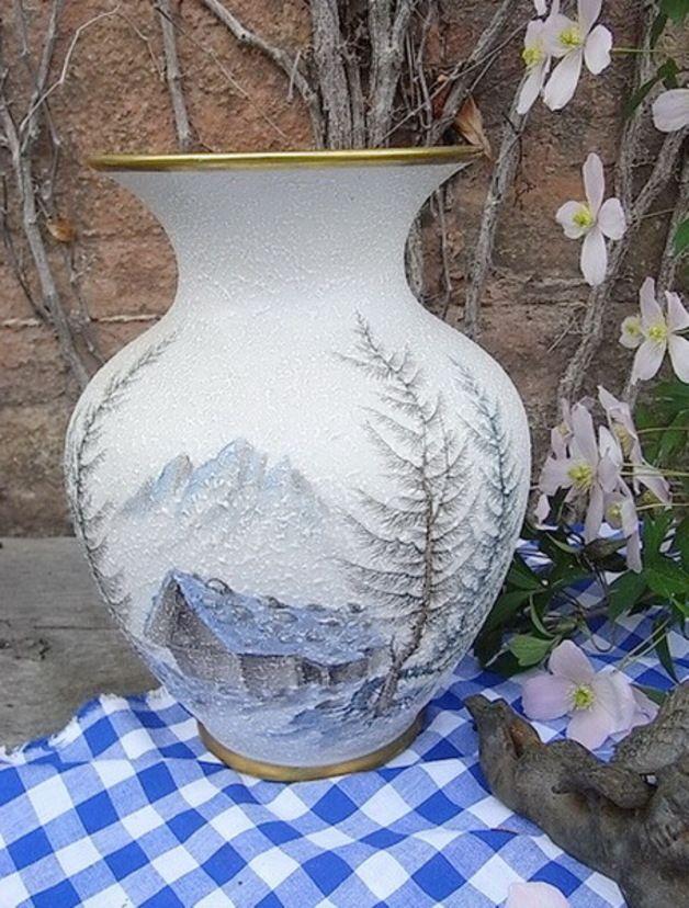 Vintage Vasen - vintage Vase Arzberg Porzellan handbemalt shabby - ein Designerstück von artdecoundso bei DaWanda