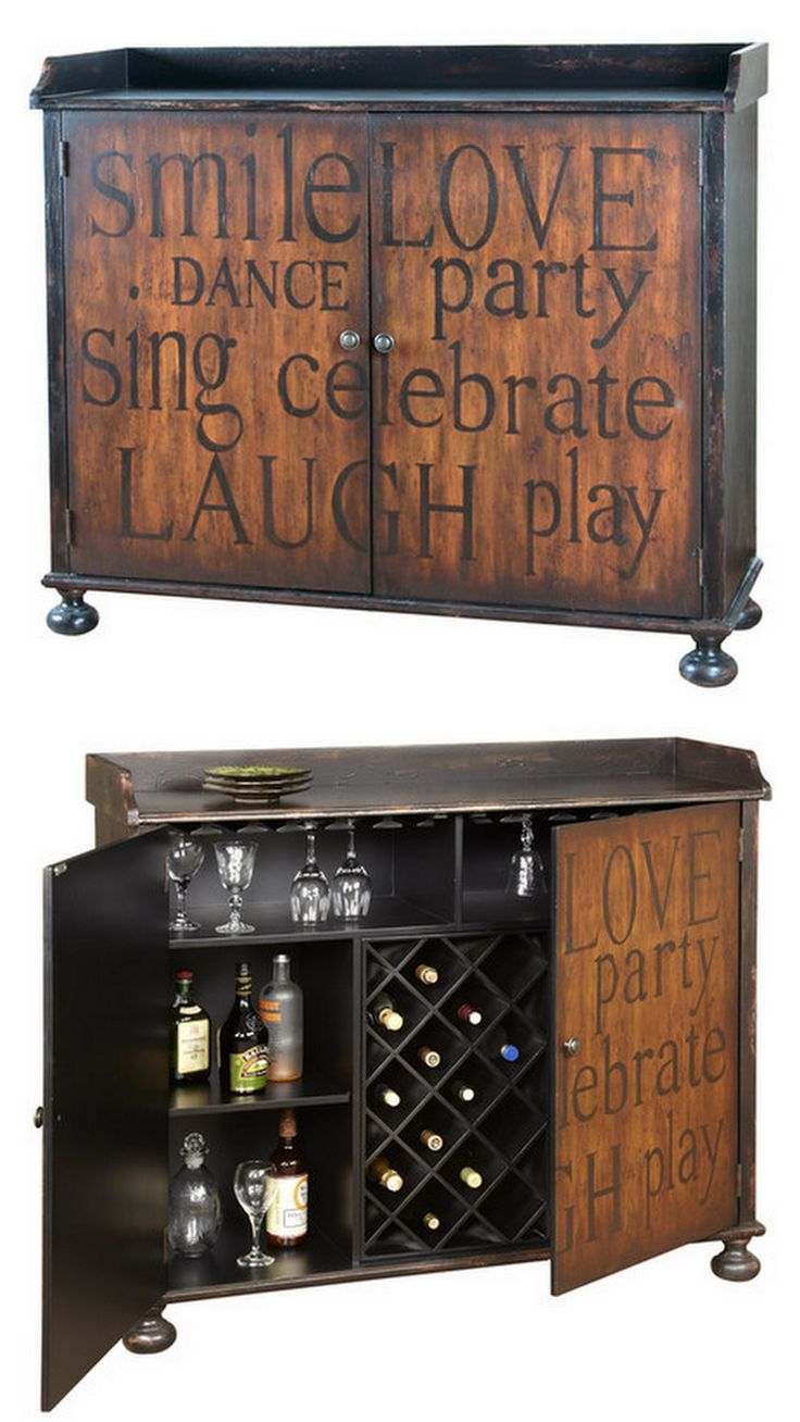 Celebrate Wine Cabinet Home Decor Kitchen Wine Decor