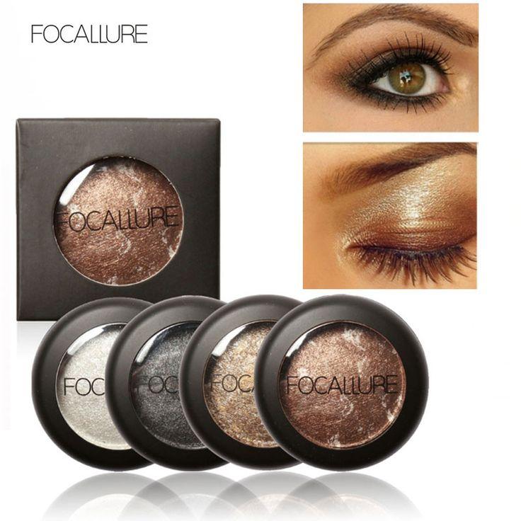 10 Colores de Ojos Maquillaje Baked Sombra de Ojos Paleta de sombra de Ojos en Shimmer Metallic por Focallure