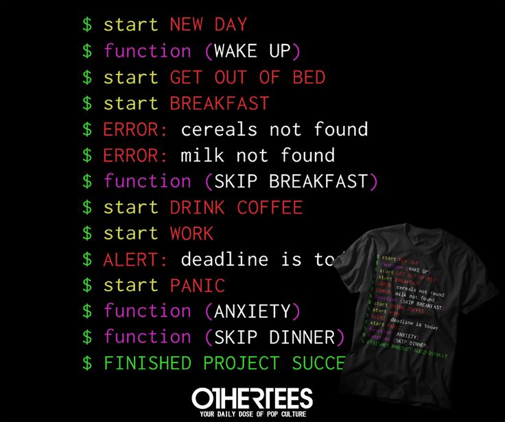"""""""MONDAY PROGRAMMER"""" T-shirts, Tank Tops, V-necks, Sweatshirts and Hoodies are on sale until March 14th at www.OtherTees.com #tshirt #othertees #clothes #popculture #it #programmer #geek #nerd"""
