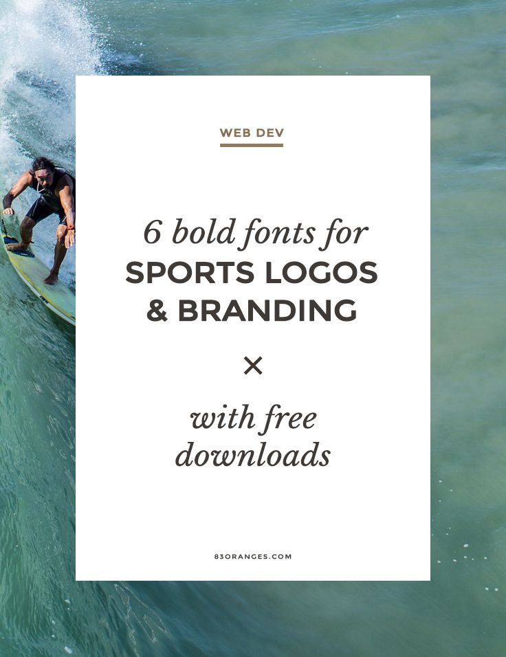 6 Bold Fonts For Sports Logos And Branding Here's my recently put together collection of 6 bold fonts perfect for Sports brand designPowered by WPeMatico... http://83oranges.com/6-bold-fonts-for-sports-logos-and-branding/