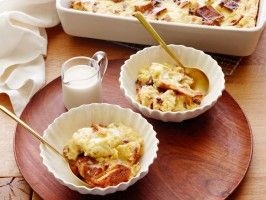 Panettone Bread Pudding with Amaretto Sauce from CookingChannelTV.com