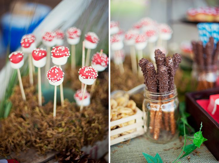 Toadstool Marshmallows Chocolate Sticks Baby Shower