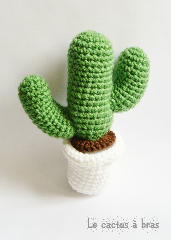 Des jolis cactus pour la fête des mères tuto chez Oh bout du fil                                                                                                                                                      Plus