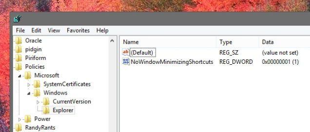 Disable Windows' Aero Shake with a Registry Tweak