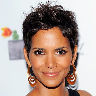 People with round faces and petite features will find this most flattering. Cropped hair exaggerates an angular face.