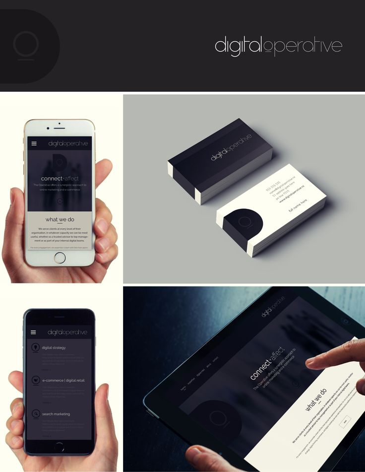 Digital Operative - brand identity and print collateral, Responsive website design and development