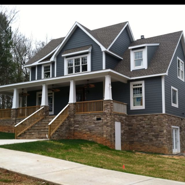 With Blue Siding Homes: Image Result For Best Stone Color Blue Siding