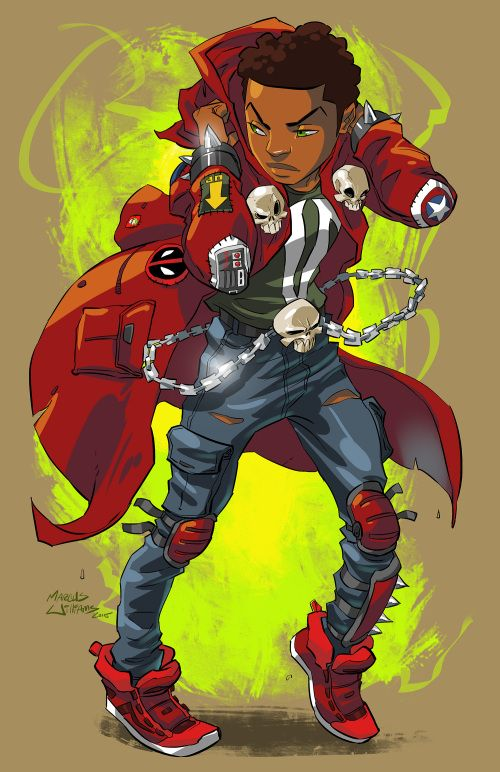 RECURSO: Atlanta-base 'League of Heroes' Jovens 'Illustrator Marcus Williams - AFROPUNK