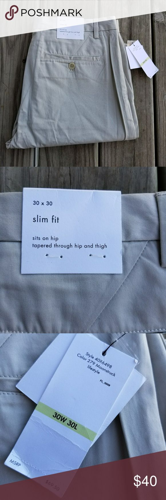 NWT Calvin Klein slim fit khaki dress pants NWT Calvin Klein slim fit khaki dress pants in size  30 waist x 30 length.  Bundle for a discount or make an offer!  044 Calvin Klein Pants Chinos & Khakis