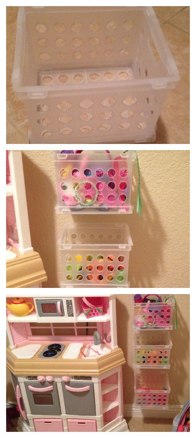 Dollar tree crates would be good for storage in the bathroom