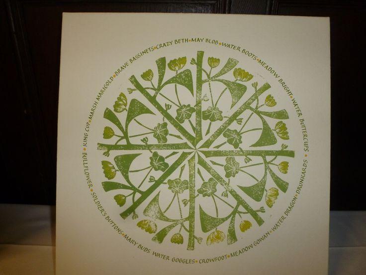 Kingcups By Caroline Owen-Thomas Calligraphy FB