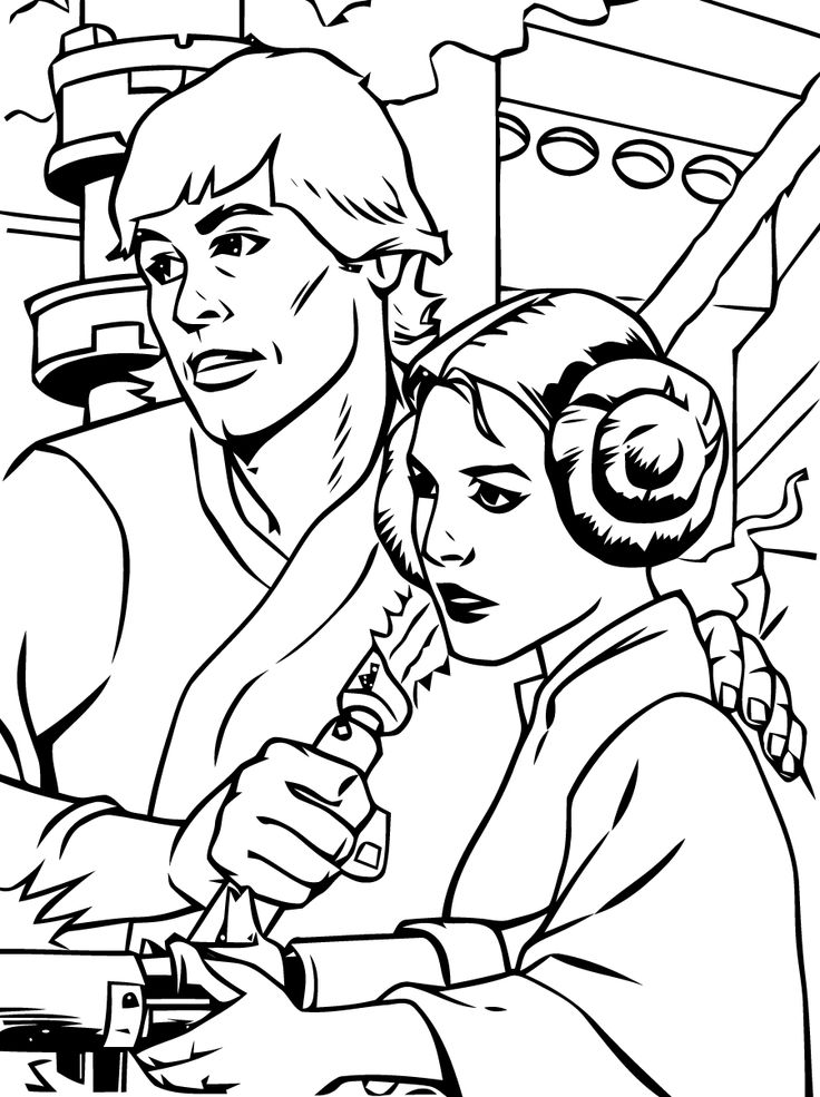 luke skywalker coloring pages - Lego Princess Leia Coloring Pages