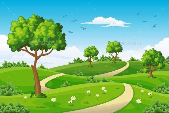 Summer Landscapes With Trees Summer Landscape Landscape Trees Landscape
