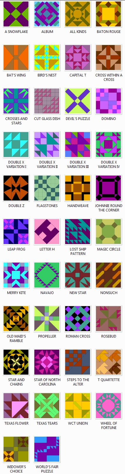 Image Detail for - Ladies Art Company Quilt Block Patterns