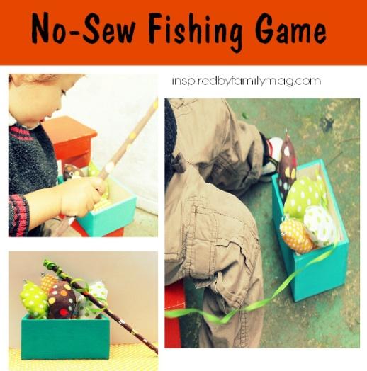 diy kid gift idea fabric fishing game