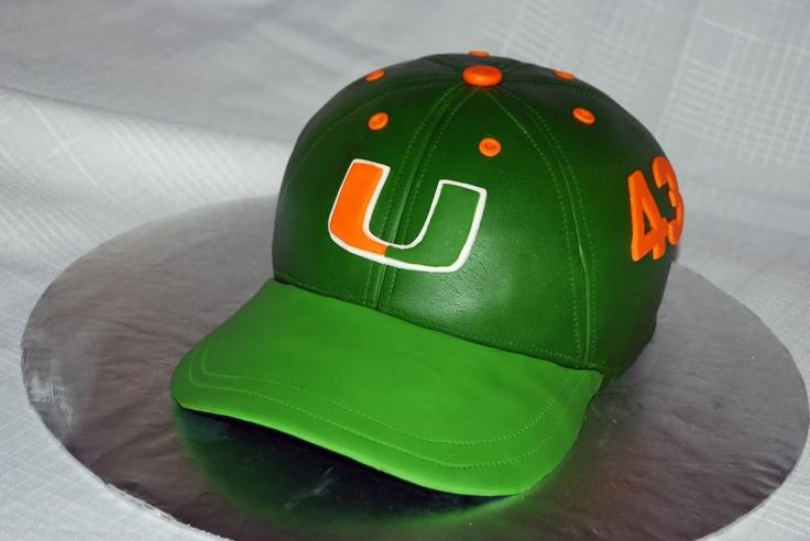 Miami Hurricanes Cap Cake