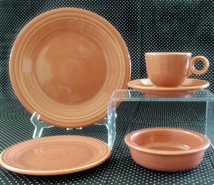 Applying 16 Bright Kitchen Paint Colors: Vintage Rose Fiesta Dinnerware