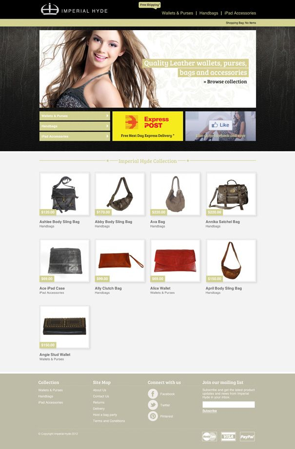 Imperial Hyde eCommerce Magento website