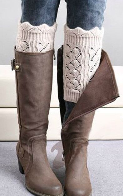 Crochet Boot Socks Leg Warmers in 3 color options