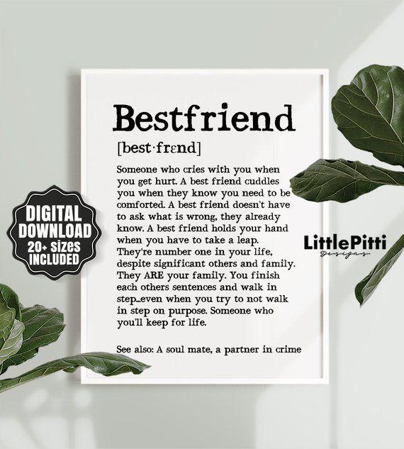 beste Freund Geschenkideen, beste Freundin Geschenk lustig, besteFreund Geschenkidee, beste Freund Definition, bestfriend geschenk, bestfriend druck Wand-Dekor