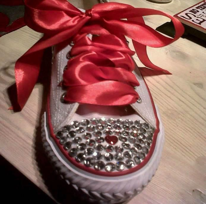 #Converse #sneakers #bling #weddingsneakers #Uniquesoles made for you by Unique Soles (www.uniquesoles-eh.com)