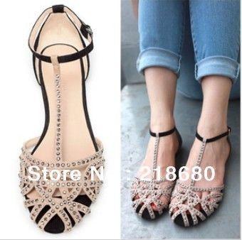 Women shoes summer 2014 sandals wedding flats designer shoes casual dress  $39.02