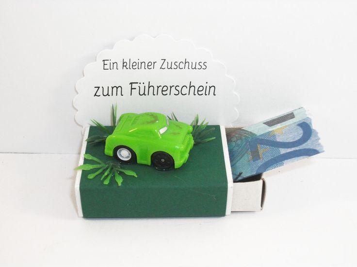 Geldgeschenk,+Streichholzschachtel,+Führerschein+von+MaFi´s+kreative+Welt+auf+DaWanda.com