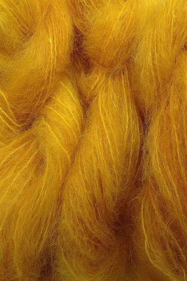 Merino Wool Fibers ~ Mustard Yellow