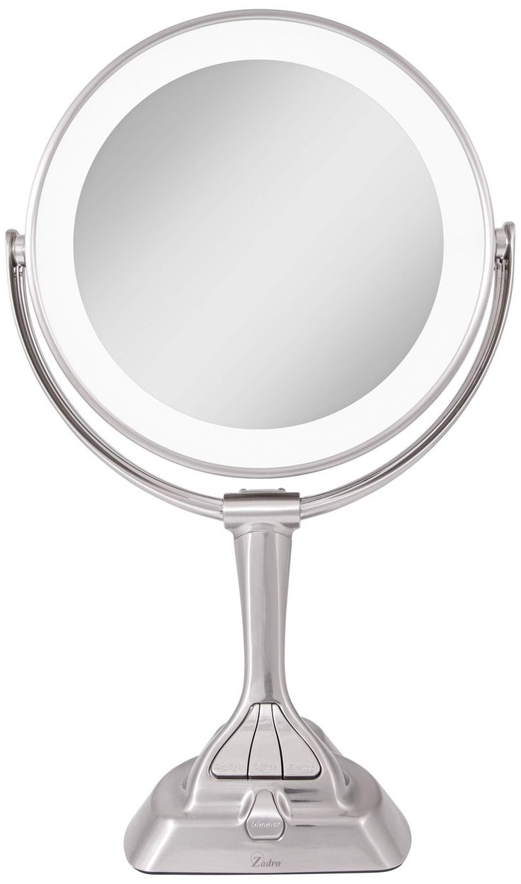 Dual Sided Satin Nickel Led Variable Lighted Vanity Mirror