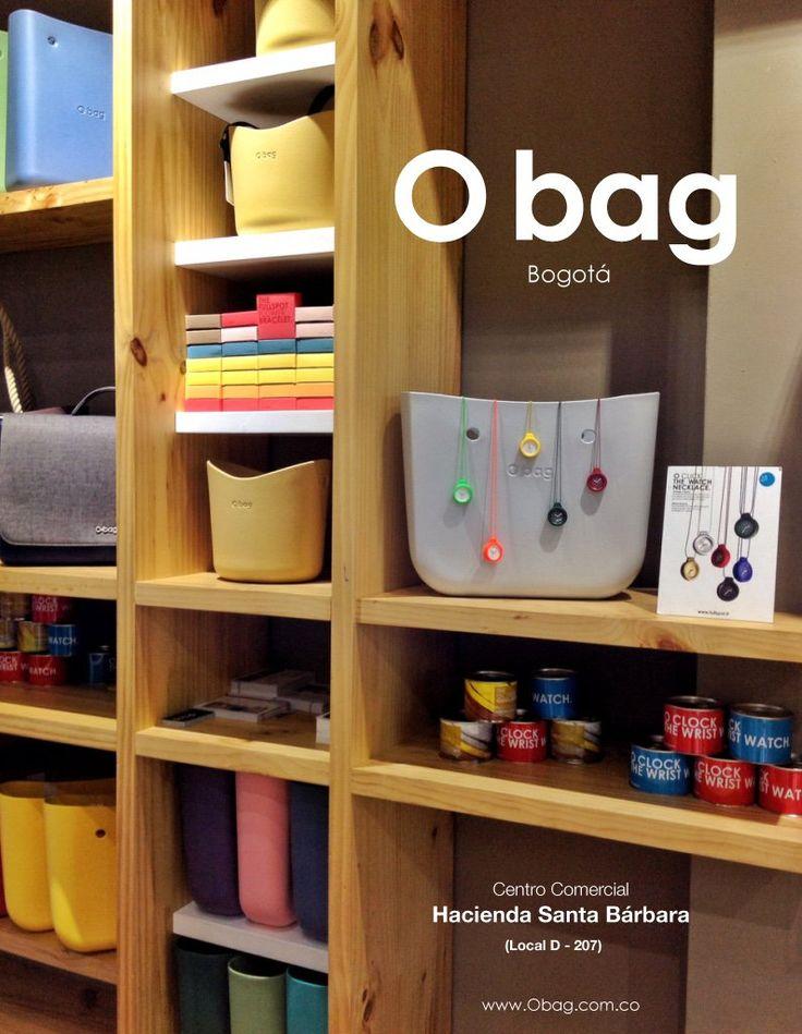 """Visita nuestra """"O bag Store"""" en:  Centro Comercial Hacienda Santa Bárbara (Bogotá, Colombia) (Local D - 207)  para ayudarte a elegir y crear la combinación perfecta de tu """"O bag"""".  www.Obag.com.co"""