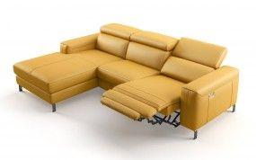 Eckgarnitur | Sofa mit Relaxfunktion in Leder | Sofanella