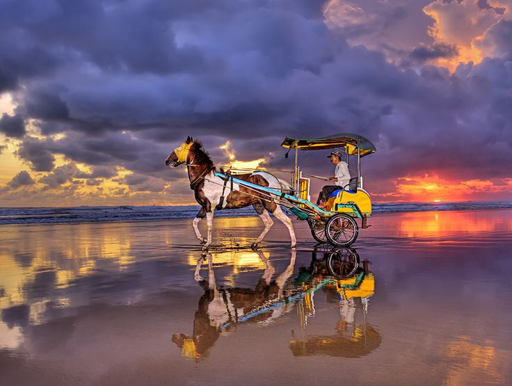 """Leaving after sunset"" Parangtritis Beach 