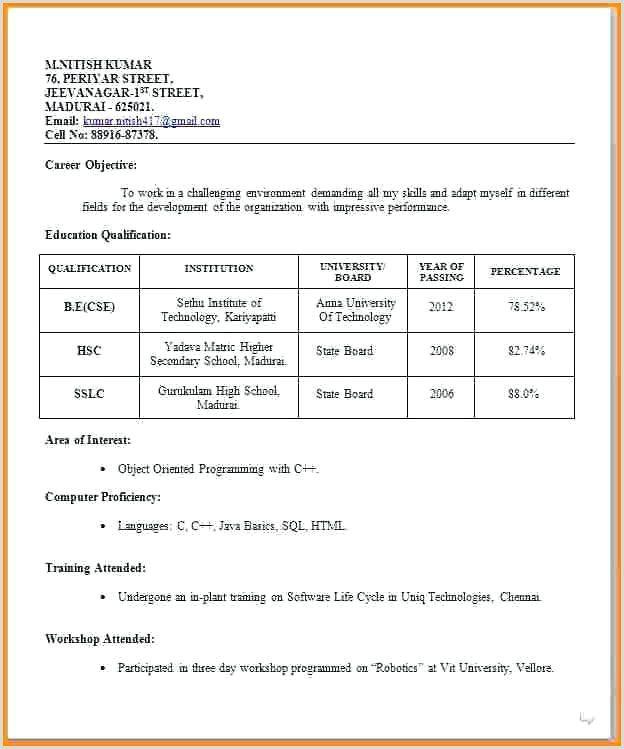 Cv Format For Teaching Job In India Teaching Resume Cv Format For Job Best Resume Format