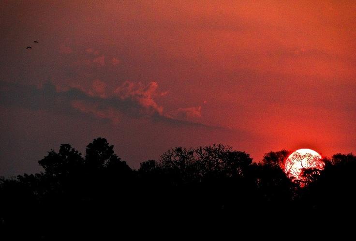 Pôr do sol em Tenente Portela - Brasil